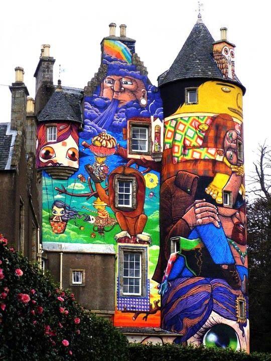 Граффити на домах фото